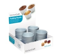 KitchenCraft Display of 32 Mini Pudding Moulds