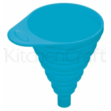 Colourworks Blue Collapsible Silicone Funnel