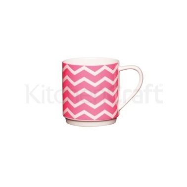 KitchenCraft Bone China Neon Pink Stacking Mug