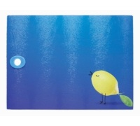 Kitchen Craft Toughened Glass Rectangular Worktop Protector - Birds