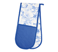 KitchenCraft Blue Safari Double Oven Glove