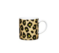 Kitchen Craft 80ml Porcelain Leopard Print Espresso Cup