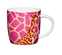 KitchenCraft Set of Four Fine Bone China Giraffe Mugs