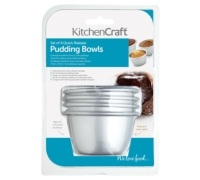 KitchenCraft Set of Four 7.5cm Mini Pudding Moulds