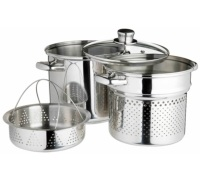 World of Flavours Italian Pasta Pot with Steamer Insert
