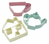 Sweetly Does It Set of 3 Teaset Cookie Cutters