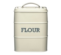 Living Nostalgia Antique Cream Flour Tin