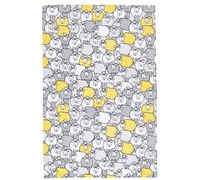 KitchenCraft Set of 2 Yellow Sheep Tea Towels
