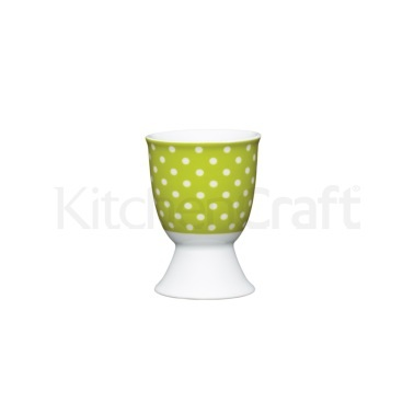 Kitchen Craft Green Polka Dot Porcelain Egg Cup