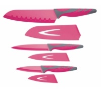 Colourworks 3 Piece Pink Knife Starter Set