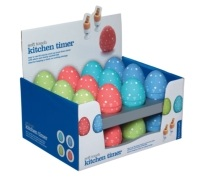 KitchenCraft Display of 24 Egg Shaped Timers
