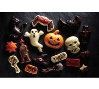 Spookily Does It Set of 2 Assorted Halloween Chocolate / Sugarcraft Moulds