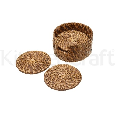 MasterClass Set of 6 Bamboo Rattan Coasters