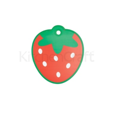 Kitchen Craft Strawberry Shaped Cut & Serve Reversible Board