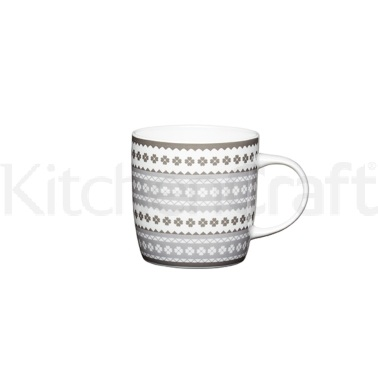 KitchenCraft Fine Bone China Scandi Barrel Mug
