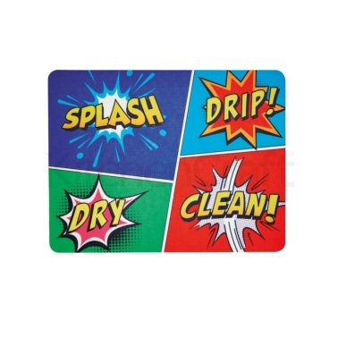 KitchenCraft Non-Slip Comic Strip Drying Mat