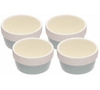 Set di 4 ramekin in ceramica