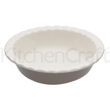 Natural Elements Stoneware Round 20cm Fluted Pie Dish
