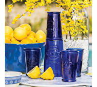 KitchenCraft Santorini Glass Carafe and Tumbler Set