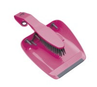 Colourworks Pink Dustpan and Brush Set