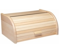 KitchenCraft Beech Wood Roll Top Bread Bin