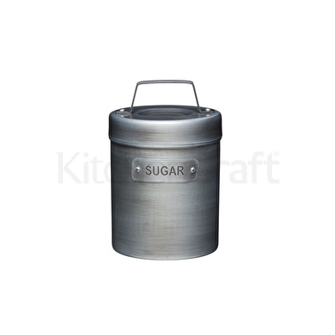 Industrial Kitchen Vintage-Style Metal Sugar Container