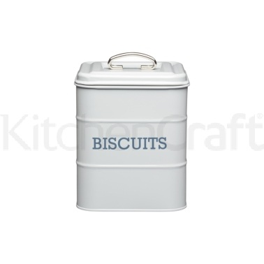 Living Nostalgia French Grey Biscuit Tin