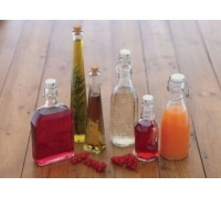 Home Made Glass 250ml Bottle with Cork Stopper