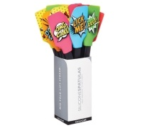 Kitchen Craft Comic Strip Display of 12 Silicone Spatulas
