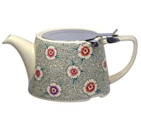 London Pottery Company Kaffe Fassett Oval-Filter Teapot with Infuser (Dianthus)