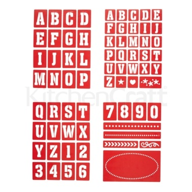 Home Made Set of 4 Assorted Stencil Kits