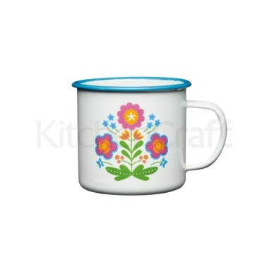 Coolmovers Romany Summer 375ml Enamel Mug