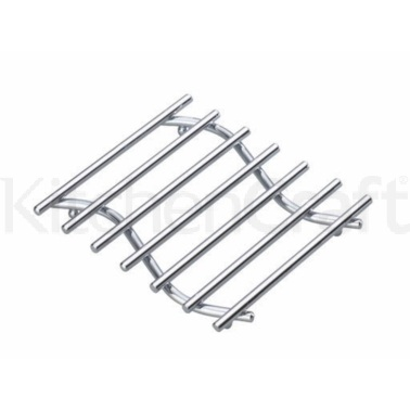 Kitchen Craft Chrome Plated Small Deluxe Heavy Duty Trivet