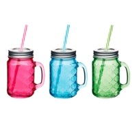 Coolmovers Romany Summer 450ml Glass Drinks Jar
