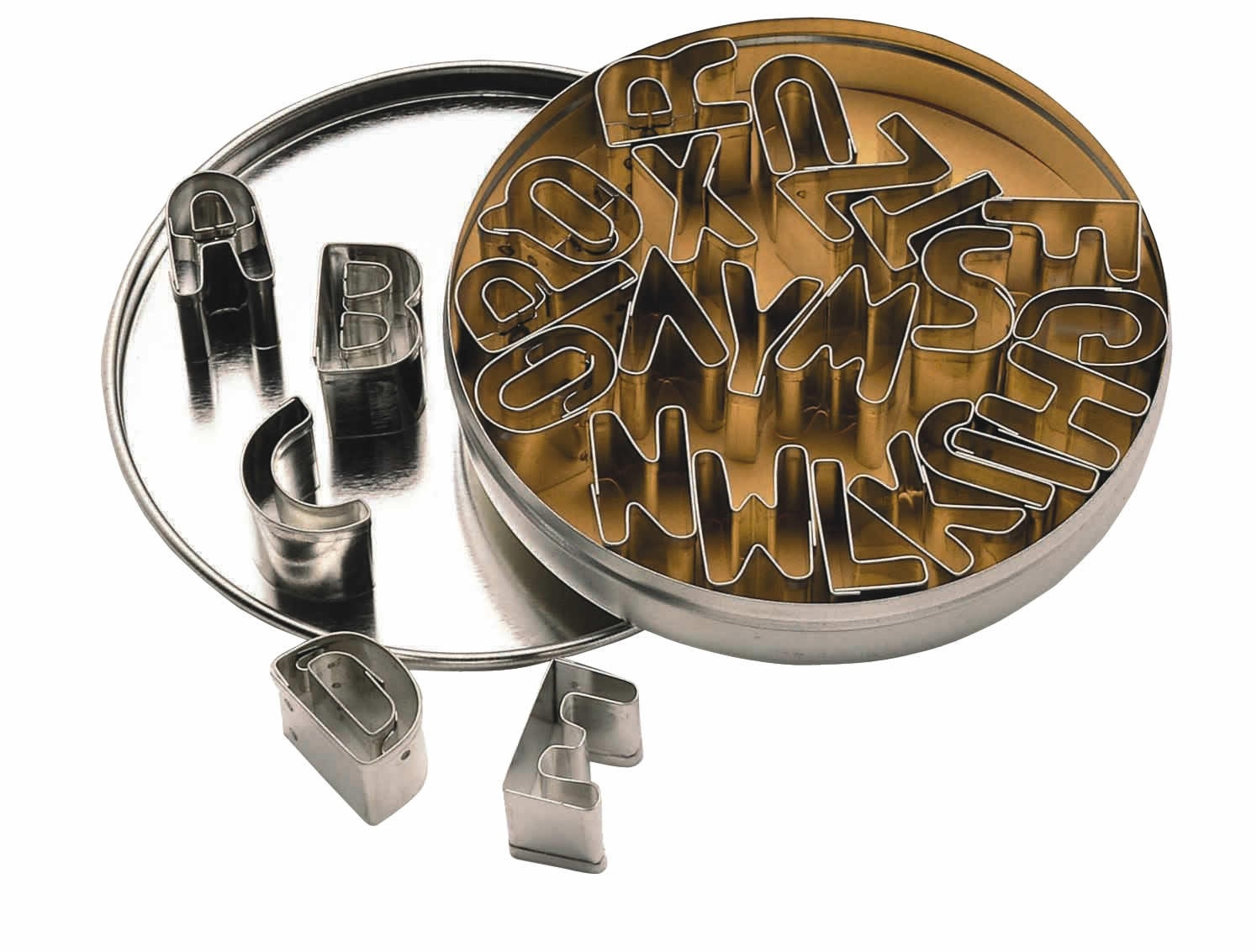 Let S Make 26 Alphabet Cookie Cutters With Metal Storage