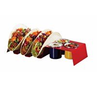 KitchenCraft World of Flavours Carbon Steel Taco Holder and Dip Pot Set
