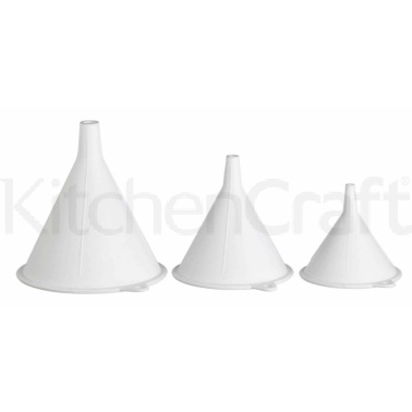 Kitchen Craft Set of 3 Polypropylene Food Safe Funnels