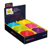 Colourworks Display of 12 Silicone Mini Citrus Juicers