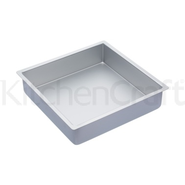 Master Class Silver Anodised 30cm Square Deep Cake Pan