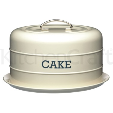 Living Nostalgia Antique Cream Domed Cake Tin