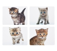 KitchenCraft Kittens Cork Back Laminated Set of 4 Placemats