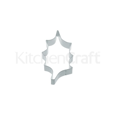 KitchenCraft 8.5cm Holly Leaf Shaped Metal Cookie Cutter