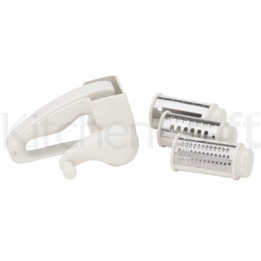 Kitchen Craft Plastic Rotary Grater Mill With Three Blades