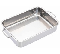 MasterClass Stainless Steel Heavy Duty 32cm x 23cm Roasting Pan