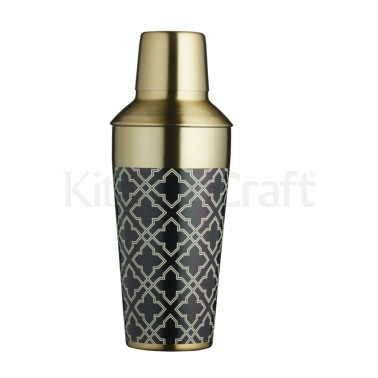 Bar Craft 650ml Art Deco Brass Finish Cocktail Shaker