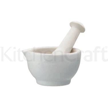 Home Made Ceramic 10cm Mortar and Pestle
