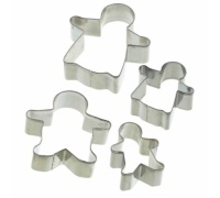 Let's Make Set of 4 Gingerbread Cookie Cutters