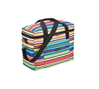 "KitchenCraft ""We Love Summer"" Large Pastel-Striped Family Cool Bag"