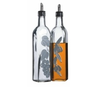 World of Flavours Italian Set of 2 Glass Oil and Vinegar Bottles