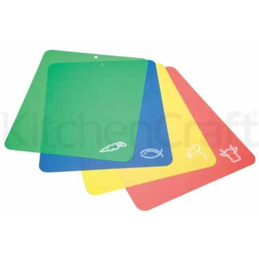 KitchenCraft Flexible Colour Coded Cutting Mats